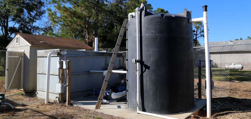 OxyShark site design wastewater treatment system size dimensions